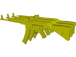 1/25 scale SturmGewehr StG-44 assault rifles x 3 in Smooth Fine Detail Plastic