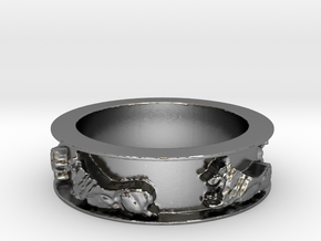 Rudy Times Five (Ring Size 8.75) in Polished Silver