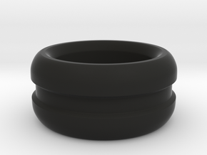 Curved Chunky Ring in Black Natural Versatile Plastic: 6 / 51.5