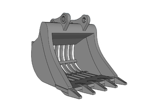 """HO - Bucket """"Skeleton"""" for 20-25t excavators in Frosted Ultra Detail"""