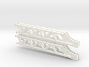 PULLING TRACTOR TIE BARS in White Processed Versatile Plastic