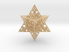 Sierpinski Merkaba 12 cm (downloadable) in 14k Gold Plated Brass