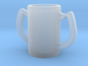 Two handles mug in Smooth Fine Detail Plastic: Small