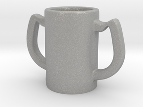 Two handles mug in Aluminum: Small