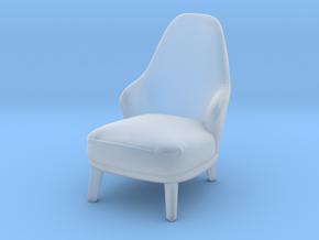 Miniature Minotti Leslie Armchair Long - Minotti in Smooth Fine Detail Plastic: 1:24