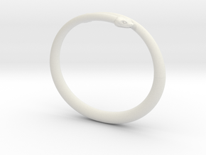 "Bracelet ""Snake"" in White Natural Versatile Plastic: Small"