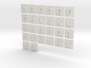 latin alphabet letters puzzle pieces in White Natural Versatile Plastic