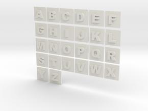 latin alphabet letters puzzle pieces in White Natural Versatile Plastic