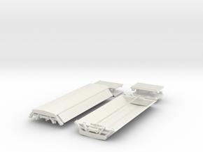 "PAA42 BIS ""PAA"" Sand Hopper Wagon (pair) in White Natural Versatile Plastic"
