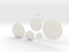 circles 2.5 - 30 cm in Transparent Acrylic