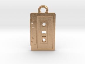 Cassette Tape Pendant 2 in Natural Bronze