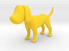 Yellow Earthy Dog in Yellow Processed Versatile Plastic