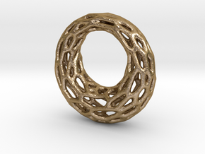 Circle of Life in Polished Gold Steel
