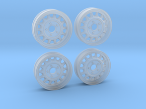 1:25 Artillery Wheel Set Staggered Set in Smoothest Fine Detail Plastic
