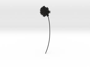 Daisy earring in Black Premium Versatile Plastic