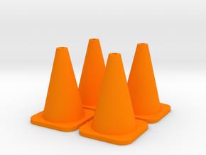 Traffic Cones - 4 in Orange Processed Versatile Plastic