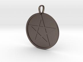 Pentagram Medallion in Natural Bronze