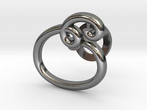 Cursive E Cufflink in Fine Detail Polished Silver
