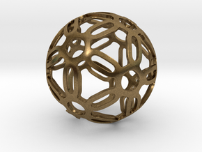 Symmetrical Pattern Sphere in Natural Bronze: Medium