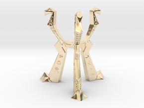 Orb of Destiny Pedestal, Metal in 14k Gold Plated Brass