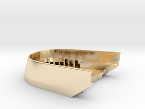 BoostedBoardV2_skid_plate in 14k Gold Plated Brass