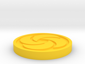 Bombos Medallion in Yellow Processed Versatile Plastic