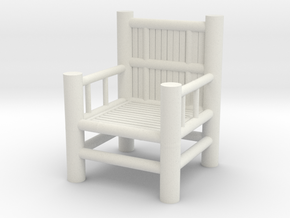 Bamboo Chair 1 in White Natural Versatile Plastic