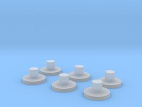 Spare Bogie Pins in Smooth Fine Detail Plastic