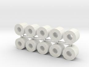 Coil Stahlblech 10erSet - 1:87 H0 in White Natural Versatile Plastic