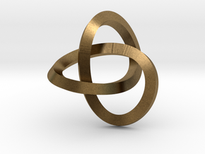 Knotted Mobius Band (small) in Natural Bronze
