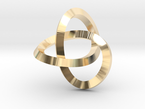 Knotted Mobius Band (small) in 14K Yellow Gold