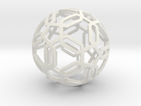 Pentagon Pattern Sphere in White Premium Strong & Flexible: Medium