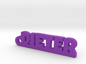 DIETER_keychain_Lucky in Purple Strong & Flexible Polished