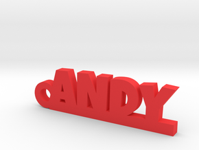 ANDY_keychain_Lucky in Red Strong & Flexible Polished