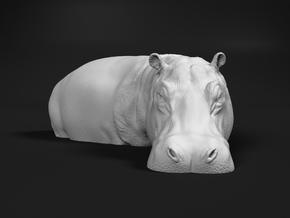 Hippopotamus 1:87 Standing in Water in Smooth Fine Detail Plastic