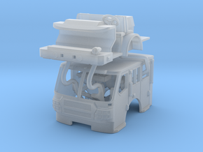 1/160 E-One QUEST flat roof cab in Smooth Fine Detail Plastic