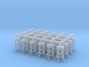 50's soda fountain bar stool 02. 1:56 Scale (28mm) in Smooth Fine Detail Plastic