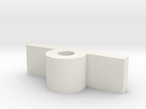 Glider_body - flafBack-1 in White Natural Versatile Plastic