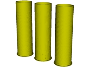 1/6 scale Howitzer 105mm cartridge M14 cases x 3 in Smooth Fine Detail Plastic