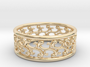 """Bracelet """"Rotate"""" in 14k Gold Plated Brass: Small"""