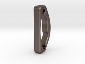 Bag_Handel in Polished Bronzed Silver Steel