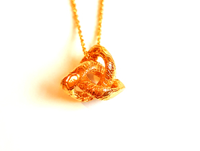 Love Atom , Pendant in 18k Gold Plated Brass