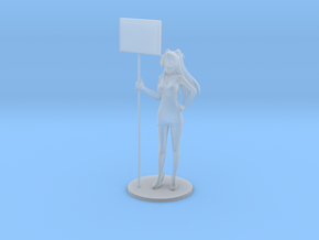 1/48 Show Girl Holding Board [Cust.] in Smoothest Fine Detail Plastic