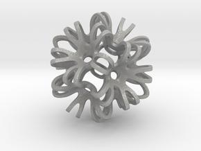 Outward Deformed Symmetrical Sphere Version 2 in Aluminum: Medium