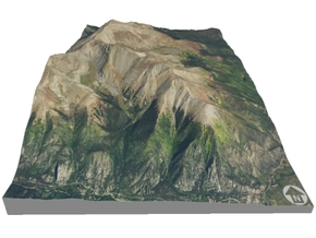"Mount Elbert Map: 6""x9"" in Glossy Full Color Sandstone"