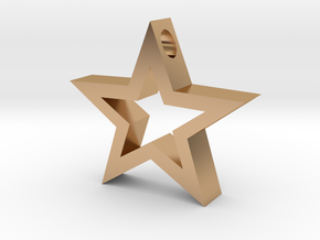Star pendant. in Polished Bronze