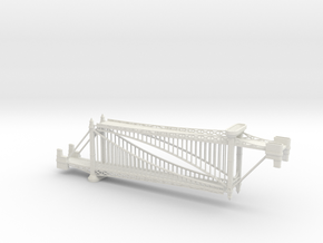 1/1200th scale Szabadsag hid (Liberty bridge) in White Natural Versatile Plastic