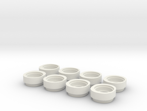 12R6 Ride Height Cams v6 Combined in White Natural Versatile Plastic