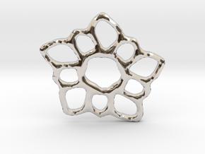 Delicate Filigree Flower Pendant in Platinum
