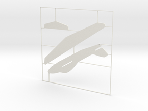 Glider_19_kit in White Natural Versatile Plastic: Extra Small